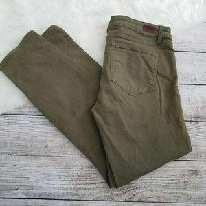 PAIGE Skyline Ankle Peg Olive Green Jean